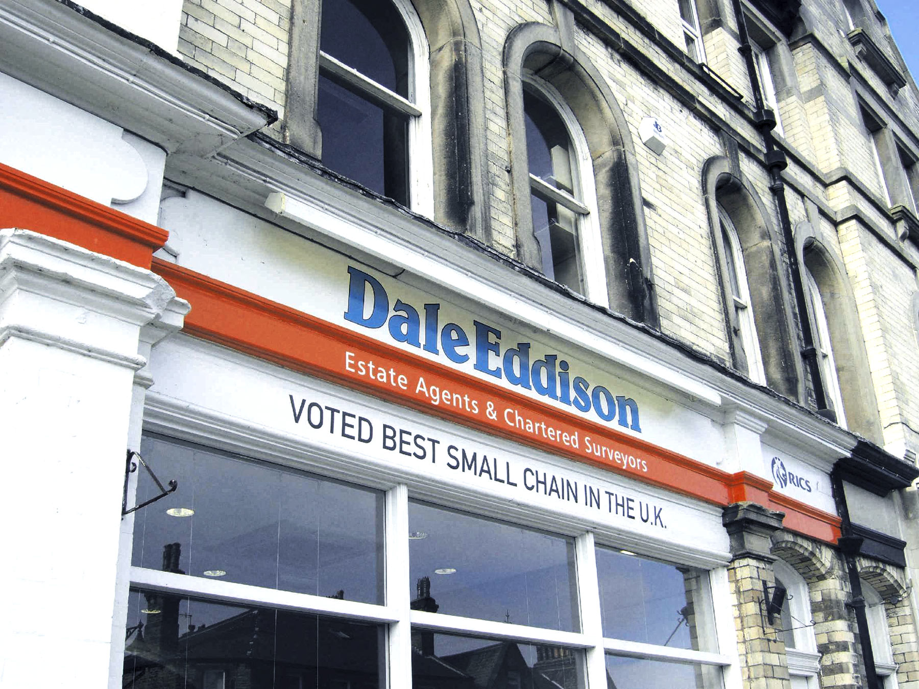 Dale Eddison's high street retail sign