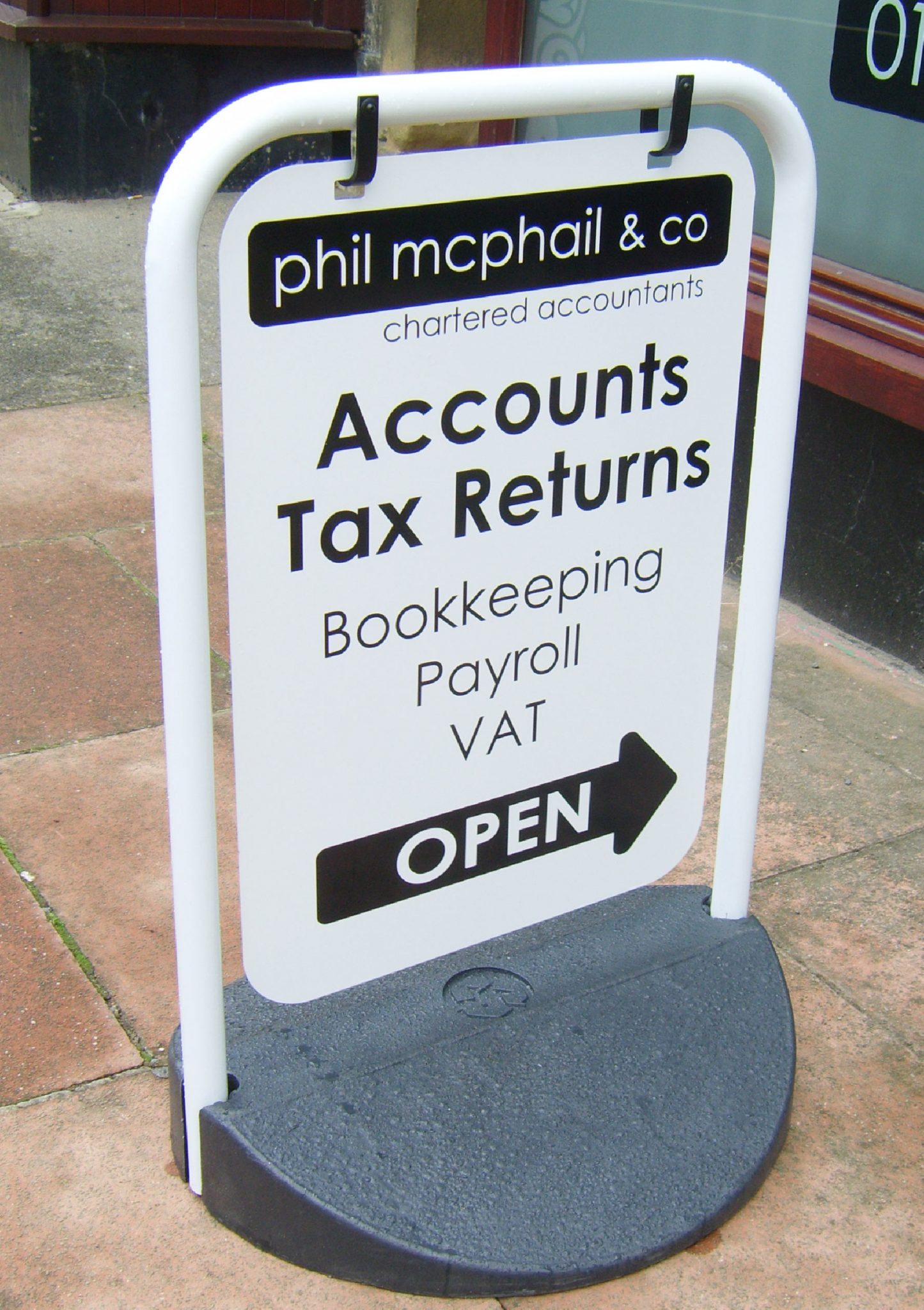 Phil McPhail pavement sign