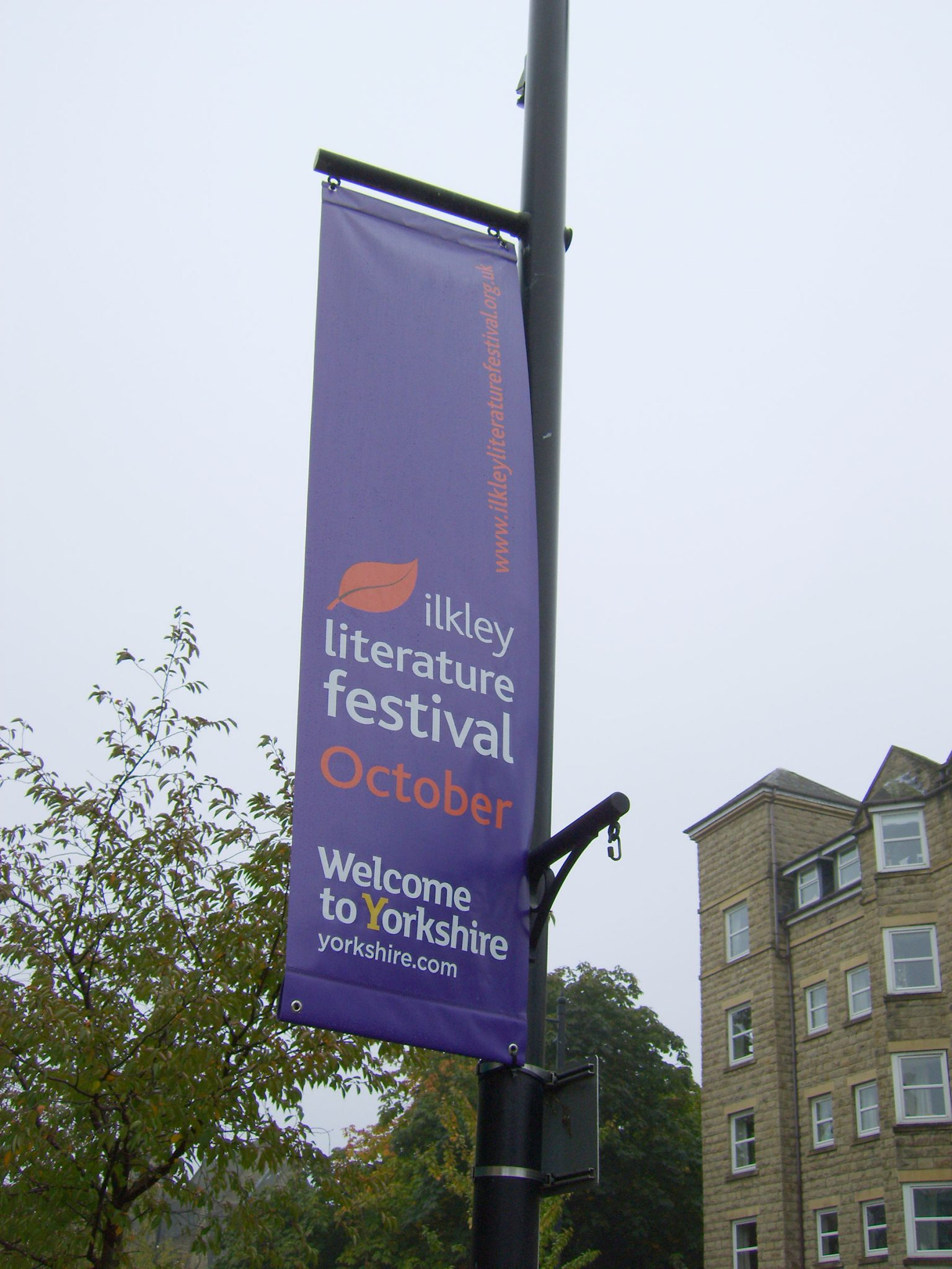 Ilkley Literature Festival post mounted signs from Valley Signs