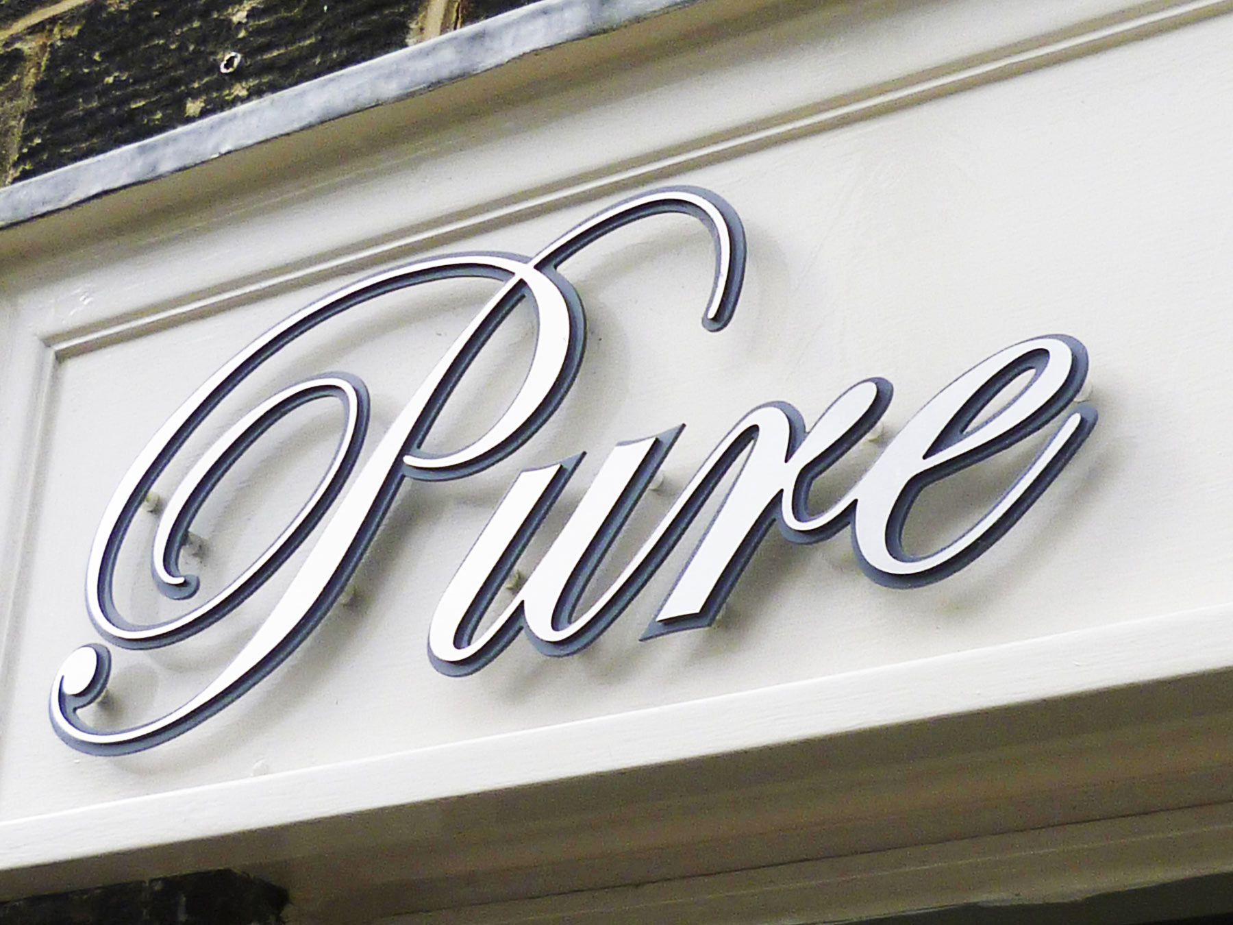 Pure's retail sign