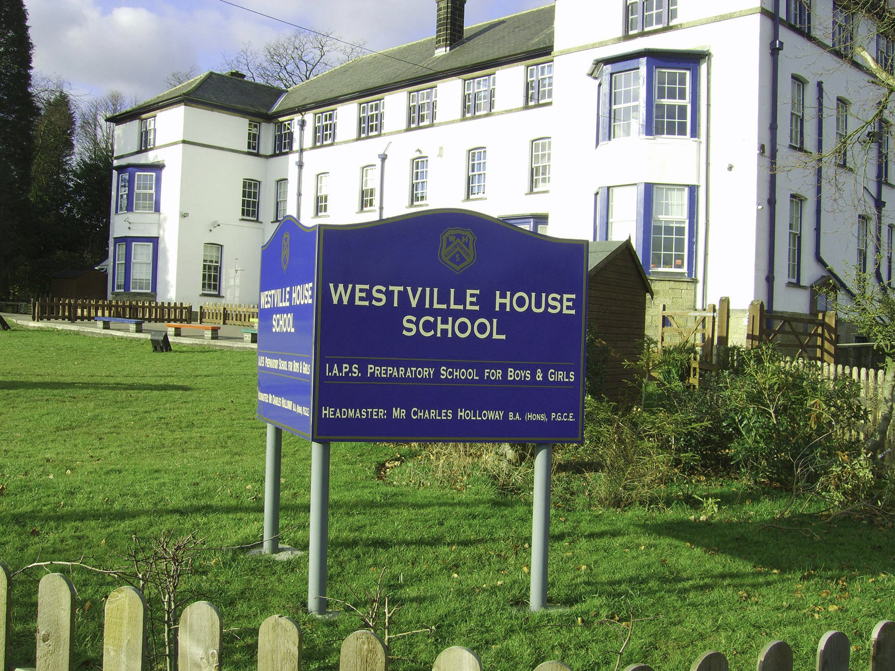 Westville House School post mounted signs from Valley Signs