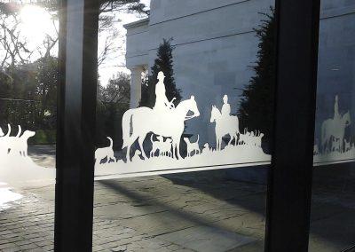 Glass etch film