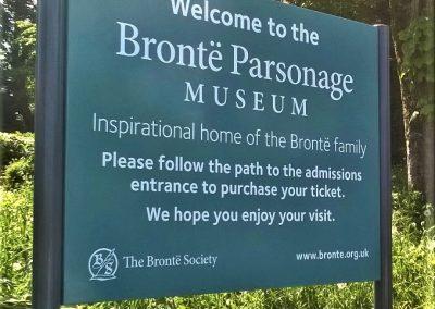 Bronte Parsonage post sign